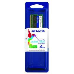 MEMORIA RAM ADATA DDR3L 4GB 1600 MHZ SODIMM (ADDS1600W4G11-S)
