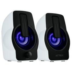 BOCINA ACTECK 2.0, 6W RMS, USB / 3.5MM LED