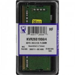 MEMORIA SODIMM DDR4 KINGSTON 4GB 2666MHZ (KVR26S19S6)