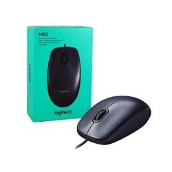 MOUSE LOGITECH M90 ALAMBRICO USB NEGRO (910-004053)